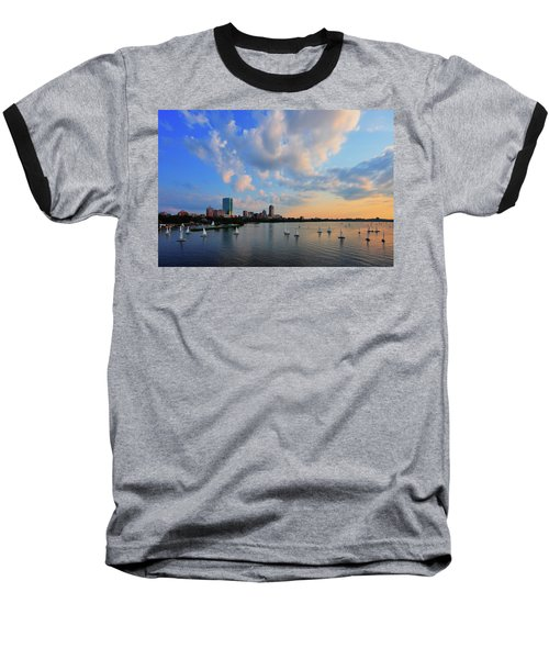 On The River Baseball T-Shirt by Rick Berk