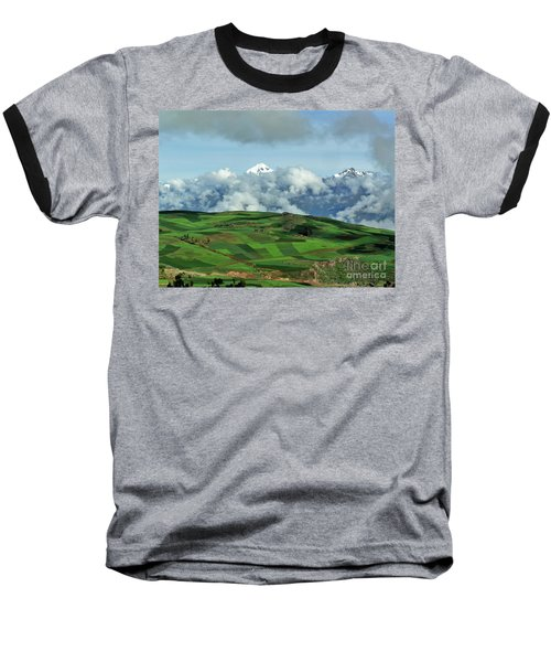 On The Road From Cusco To Urubamba Baseball T-Shirt by Michele Penner