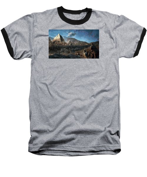 Baseball T-Shirt featuring the painting On The Road To Meereen by Mario Carini