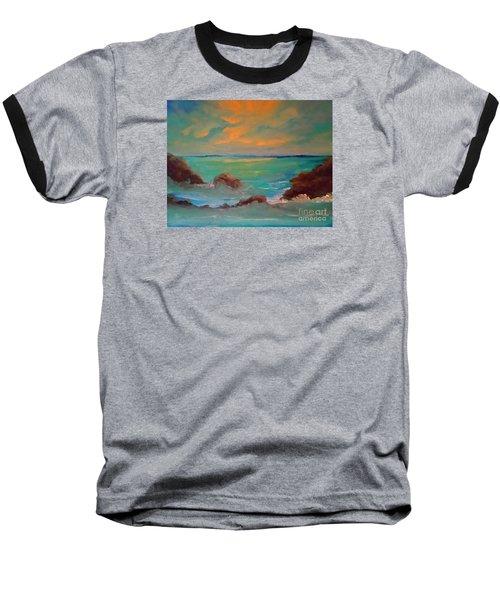 On The Rocks Baseball T-Shirt by Holly Martinson