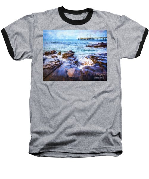 Baseball T-Shirt featuring the photograph On The Rocks by Perry Webster