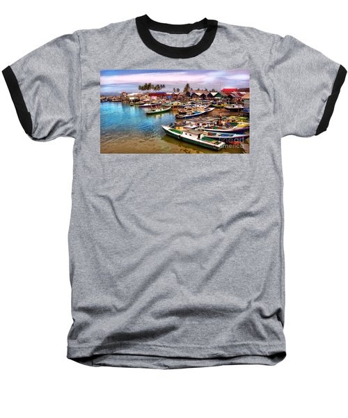 On The Shore Baseball T-Shirt by Charuhas Images