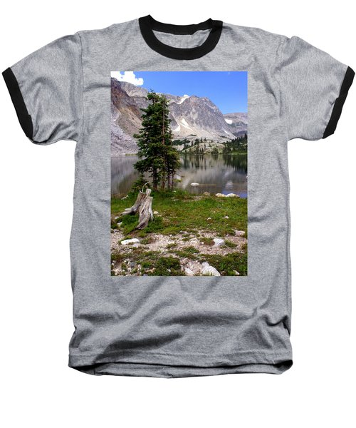On The Snowy Mountain Loop Baseball T-Shirt