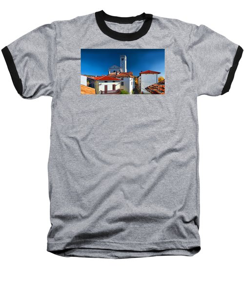 Baseball T-Shirt featuring the photograph On The Tiles by Graham Hawcroft pixsellpix