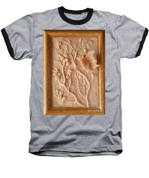 On The Way To Bronze - Alfalfa And Anglewing Baseball T-Shirt by Dawn Senior-Trask