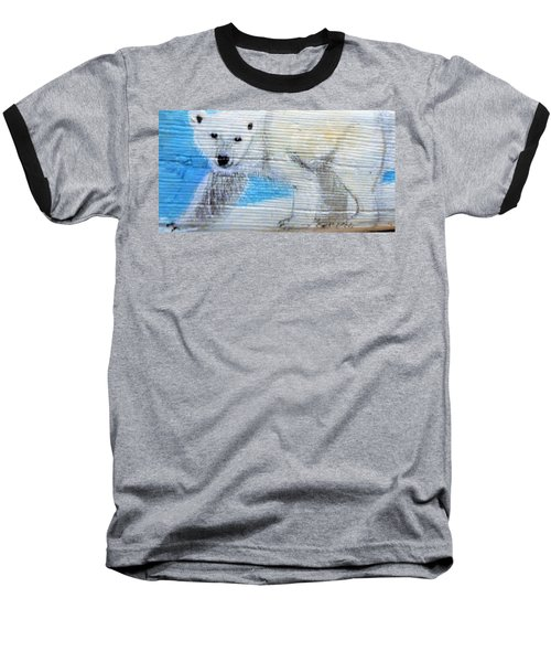 On Thin Ice Baseball T-Shirt by Ann Michelle Swadener