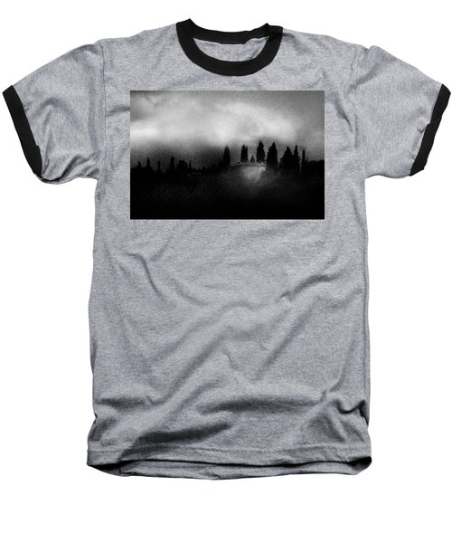 On Top Of The Hill Baseball T-Shirt by Celso Bressan