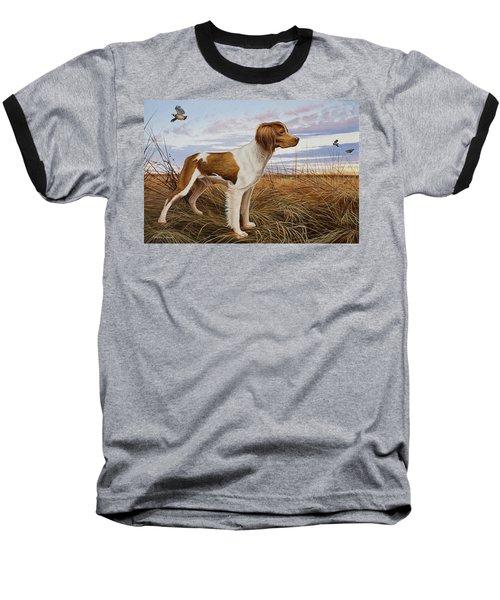 On Watch - Brittany Spaniel Baseball T-Shirt