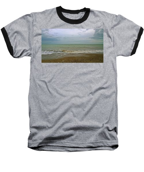 Baseball T-Shirt featuring the photograph On Weymouth Beach by Anne Kotan