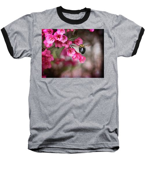 On Wine And Roses Weigela - 2 Baseball T-Shirt by Debra Martz