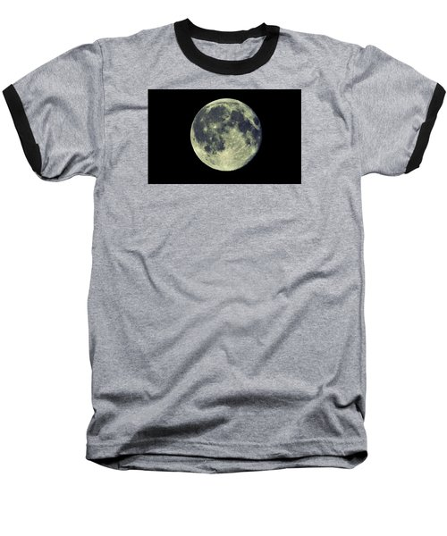 Baseball T-Shirt featuring the photograph Once In A Blue Moon by Candice Trimble