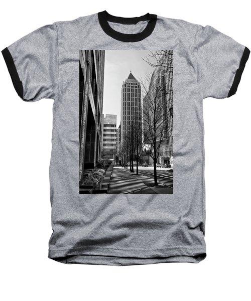 One Atlantic Center In Black And White Baseball T-Shirt
