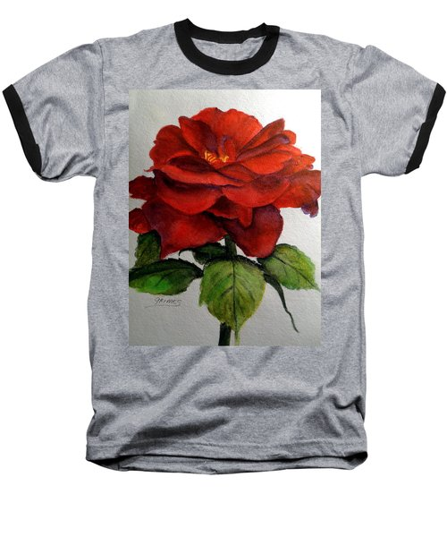 One Beautiful Rose Baseball T-Shirt by Carol Grimes