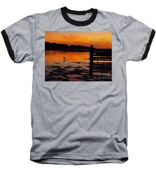 One Bird Baseball T-Shirt by Trena Mara