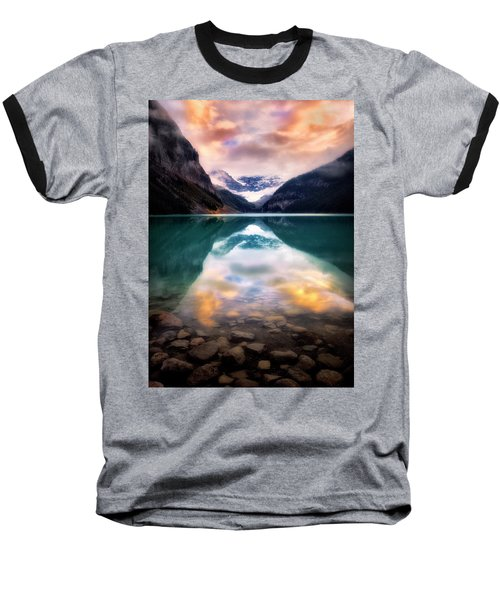 One Colorful Moment  Baseball T-Shirt by Nicki Frates