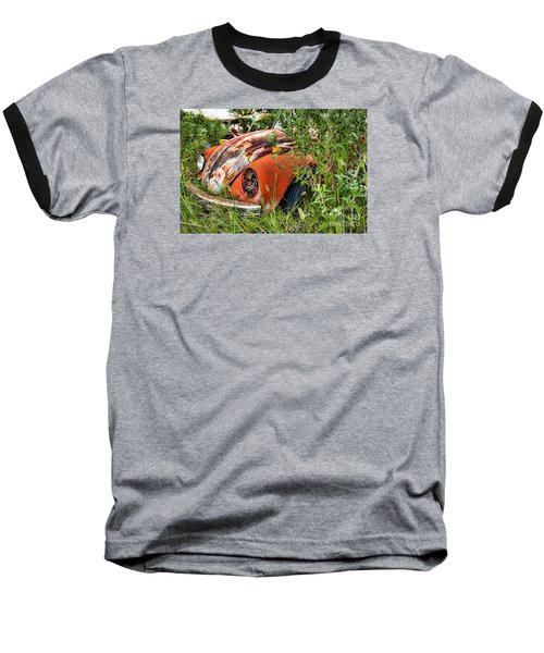 One Eyed Bug Baseball T-Shirt by Lawrence Burry