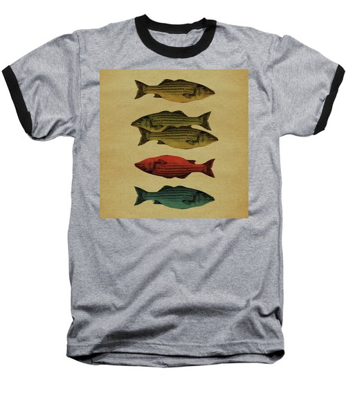 One Fish, Two Fish . . . Baseball T-Shirt by Meg Shearer