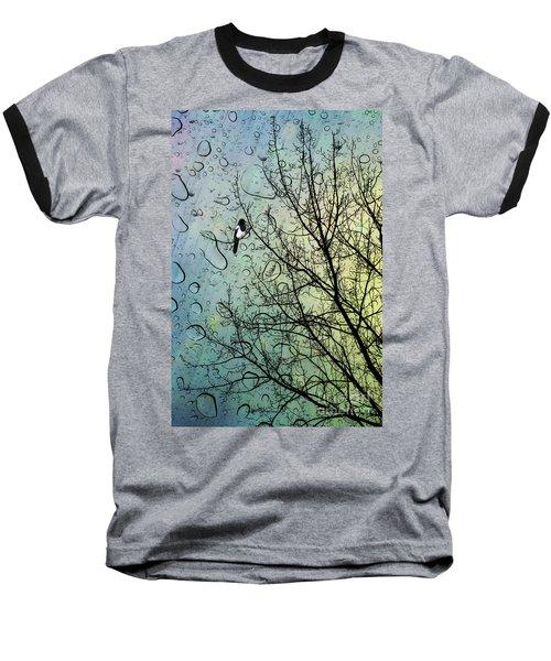 One For Sorrow Baseball T-Shirt by John Edwards