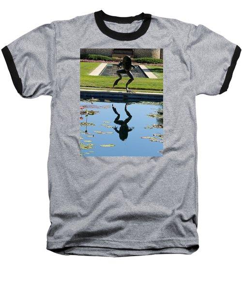 One Giant Leap Baseball T-Shirt by Pamela Critchlow