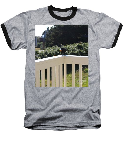 Baseball T-Shirt featuring the photograph One In The Mouth Is Worth by Marie Neder