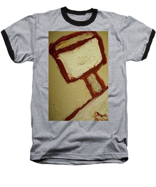 Baseball T-Shirt featuring the painting One Lamp by Shea Holliman