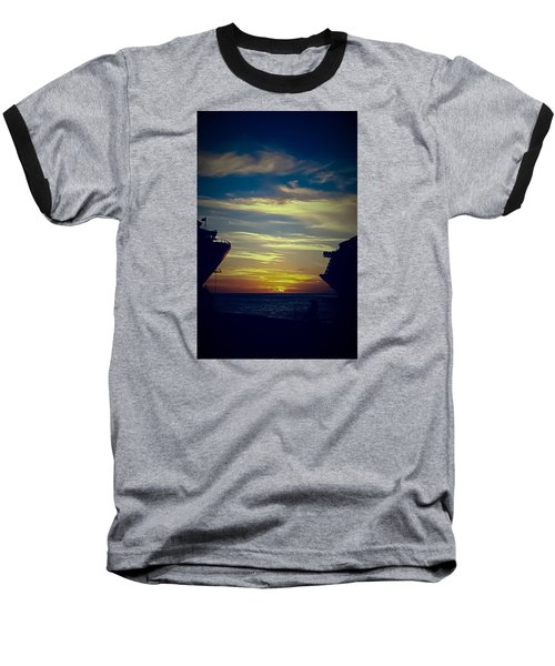 Baseball T-Shirt featuring the photograph One Last Glimpse by DigiArt Diaries by Vicky B Fuller