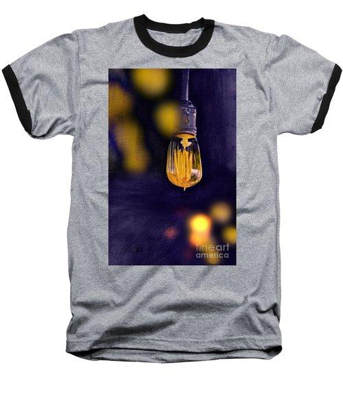 One Light Baseball T-Shirt by Allison Ashton