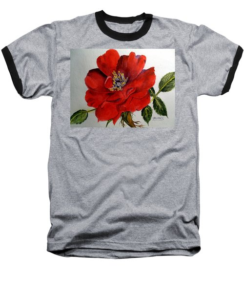 One Lone Wild Rose Baseball T-Shirt