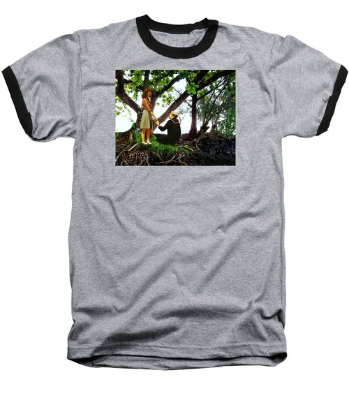 One Moment In Paradise Baseball T-Shirt by Timothy Bulone