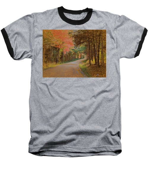 One More Country Road Baseball T-Shirt by John Selmer Sr