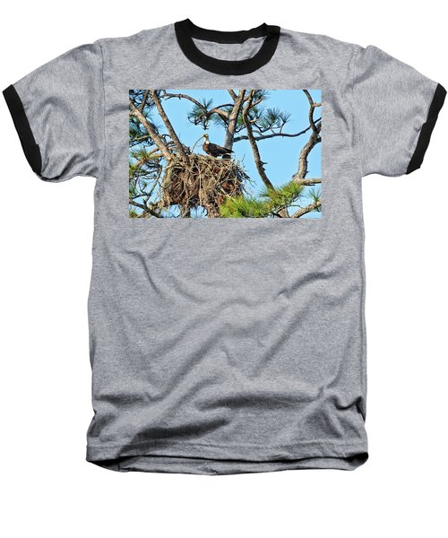 Baseball T-Shirt featuring the photograph One More Twig by Deborah Benoit