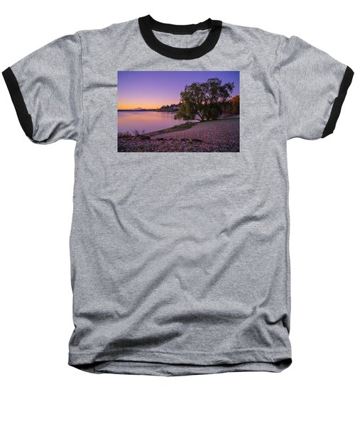 Baseball T-Shirt featuring the photograph One Morning At The Lake by Ken Stanback