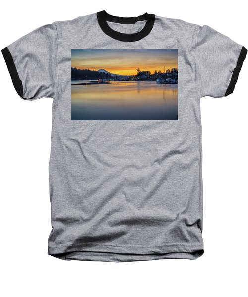 Baseball T-Shirt featuring the photograph One Morning In Gig Harbor by Ken Stanback