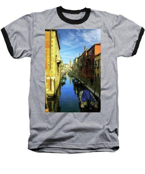 one of the many Venetian canals on a Sunny summer day Baseball T-Shirt