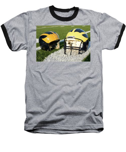 One Old, One New Wolverine Helmets On The Field Baseball T-Shirt