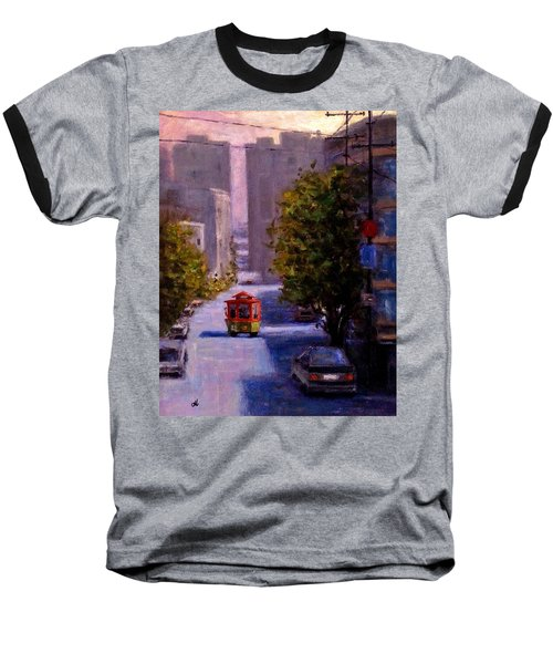 One Quiet Afternoon In San Francisco.. Baseball T-Shirt by Cristina Mihailescu