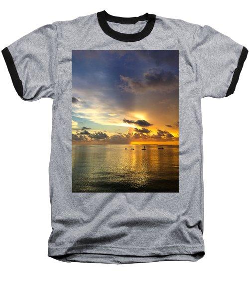 Baseball T-Shirt featuring the photograph One Summer Night... by Melanie Moraga