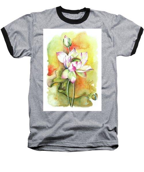 One Sunny Day Baseball T-Shirt by Anna Ewa Miarczynska