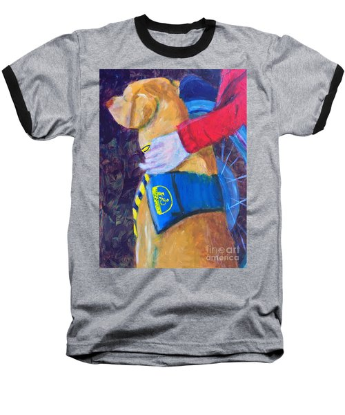 Baseball T-Shirt featuring the painting One Team Two Heroes 3 by Donald J Ryker III