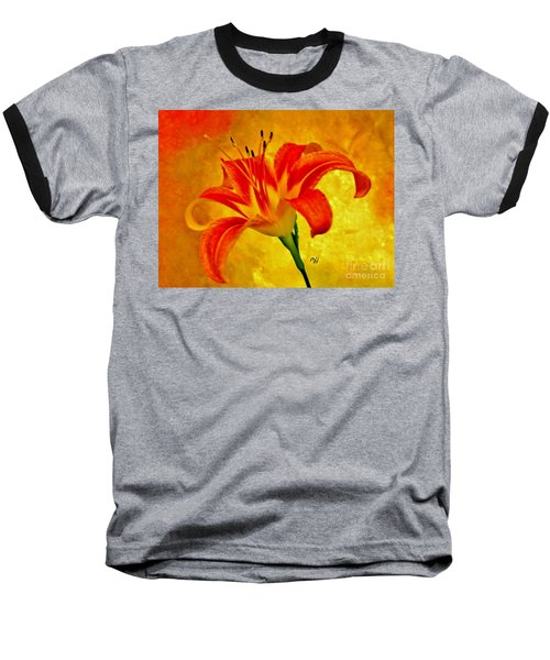 Baseball T-Shirt featuring the photograph One Tigerlily by Marsha Heiken