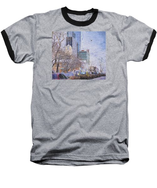 Baseball T-Shirt featuring the photograph One Winter Day by Vladimir Kholostykh