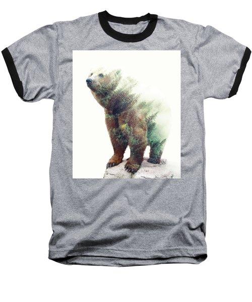 One With Nature V2 Baseball T-Shirt by Uma Gokhale