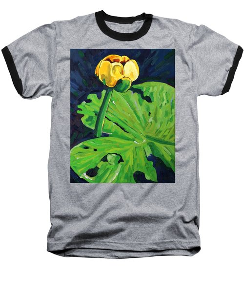 One Yellow Lily Baseball T-Shirt
