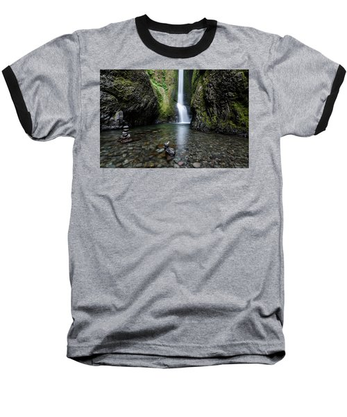 Baseball T-Shirt featuring the photograph Oneonta Falls No.1 by Margaret Pitcher