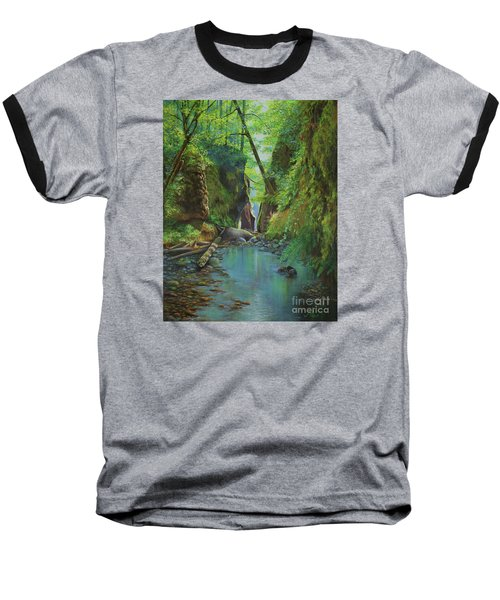 Oneonta Gorge Baseball T-Shirt by Jeanette French