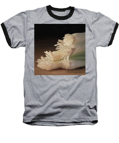 Onions 01 Baseball T-Shirt by Wally Hampton