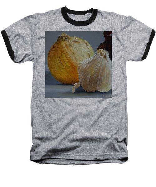 Onions And Garlic Baseball T-Shirt
