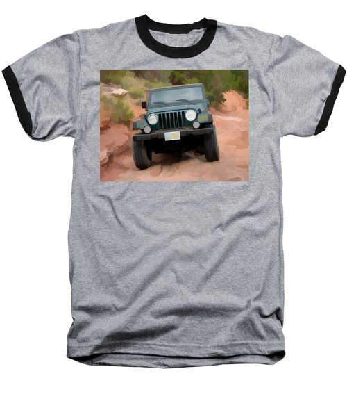 Baseball T-Shirt featuring the digital art Only Jeeps Here by Gary Baird