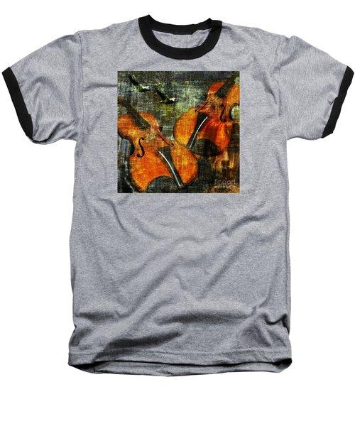 Only Music Heals A Broken Heart Baseball T-Shirt by LemonArt Photography