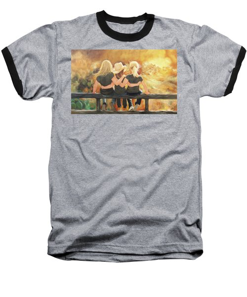 Only Sisters Know Baseball T-Shirt by Karen Kennedy Chatham